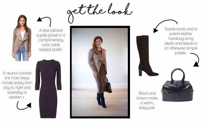 suede-jacket-maxi-dress