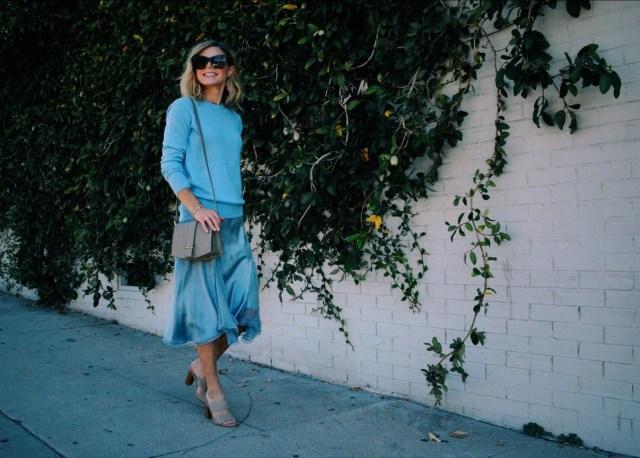 cornflower blue outfit