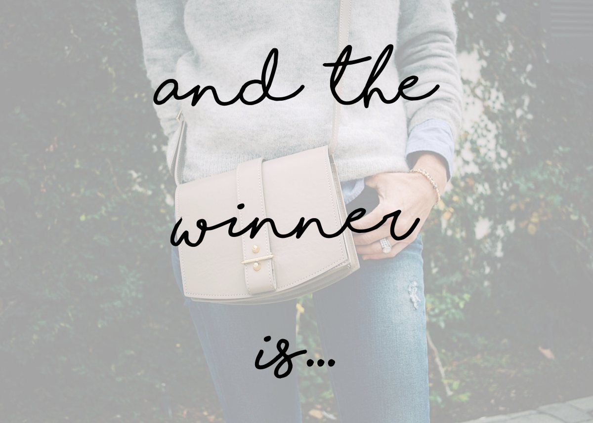 The Haerfest Jo Saddle Cross Body Bag Giveaway Winners