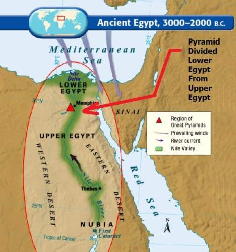 The Great Pyramid Of Giza Was Inspired By God - Map of egypt giza pyramids