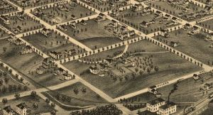 Bird's Eye View of Greensboro 1891 - Blandwood