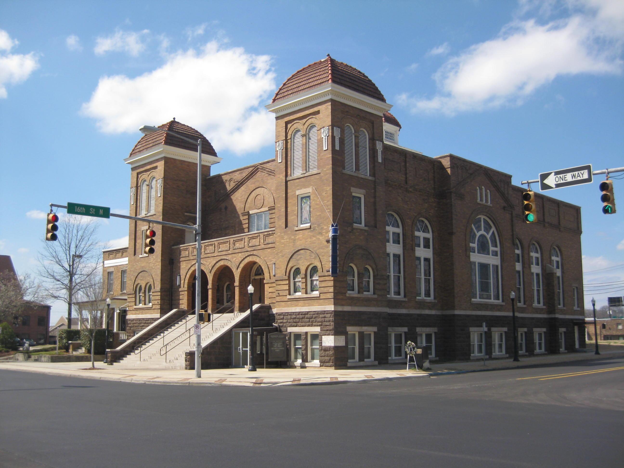 Closer view of the 16th Street Baptist Church