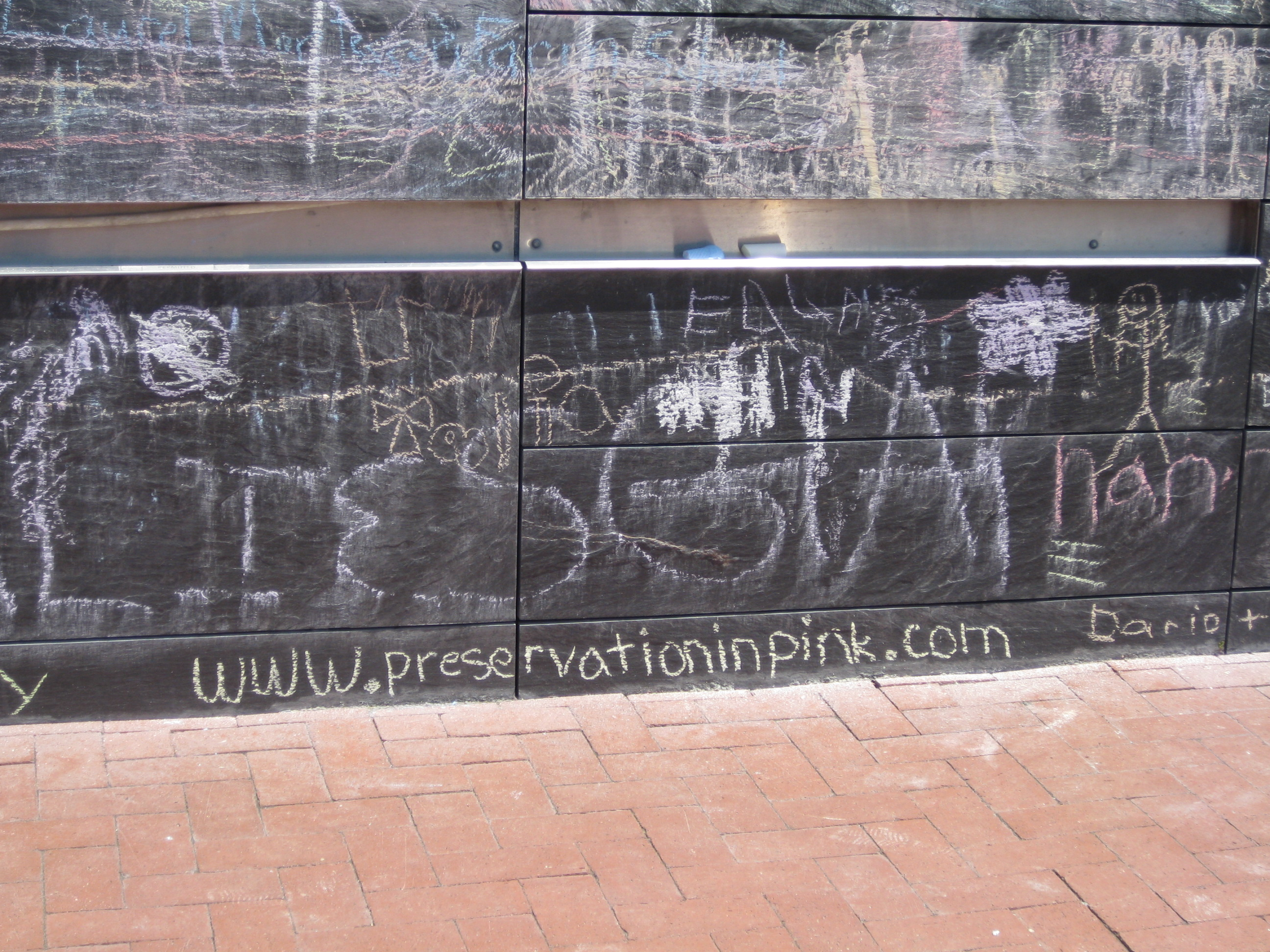 Preservation in Pink on the chalkboard