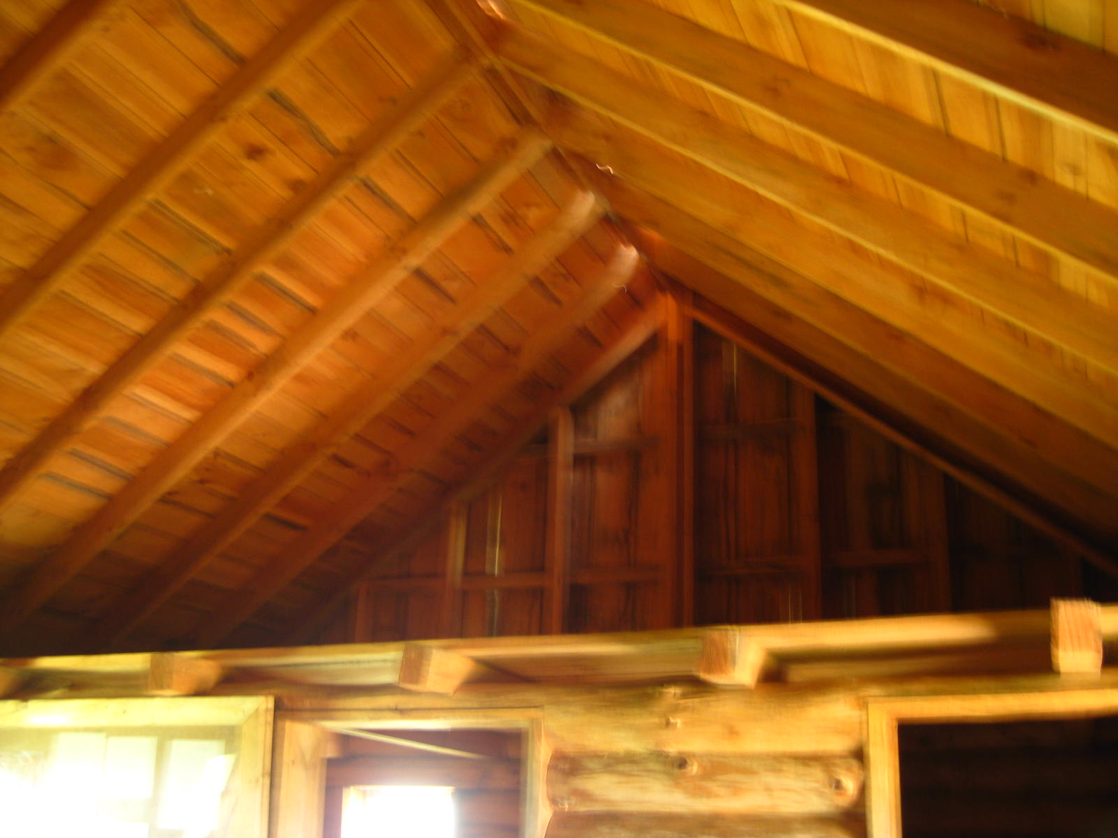 The interior. This is the loft where the Ingalls girls slept.