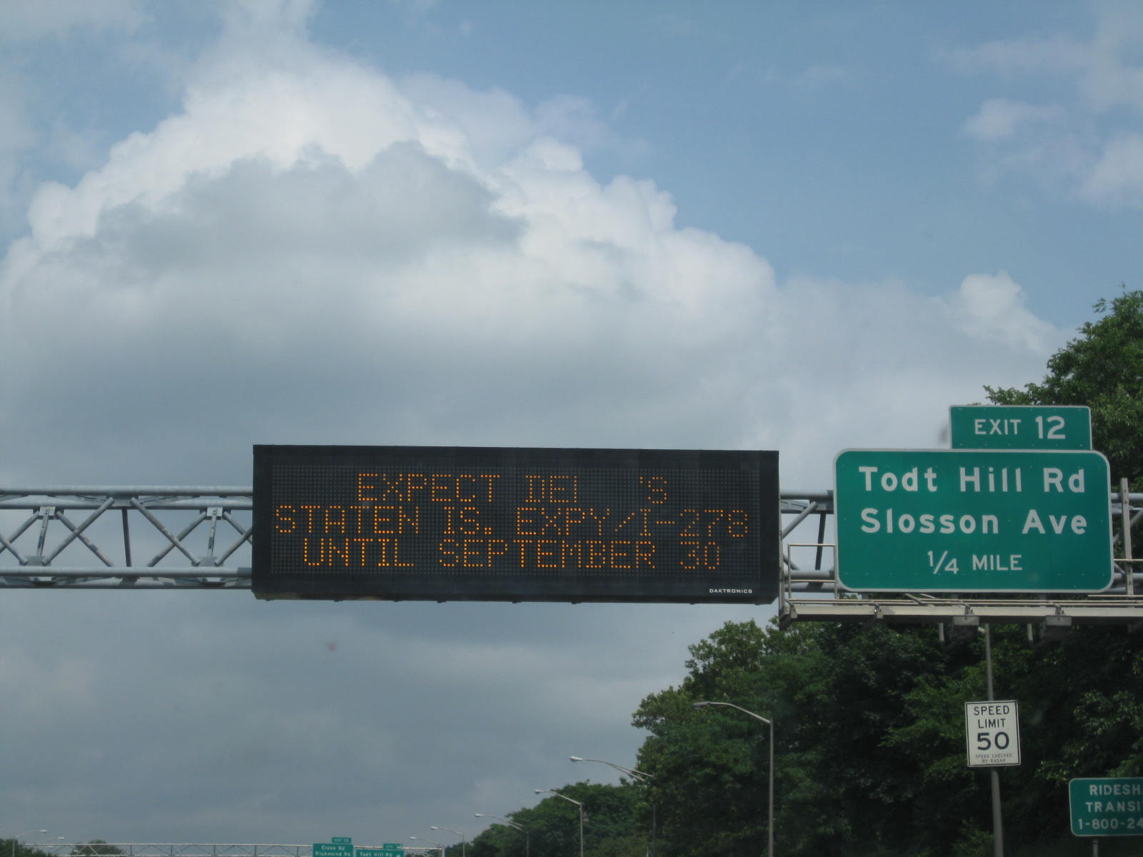 """Expect delays until September."" Classic Staten Island, NY."