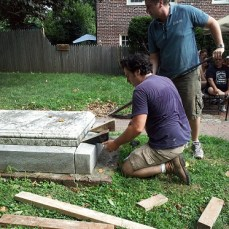 Justus Family-grave restoration-2