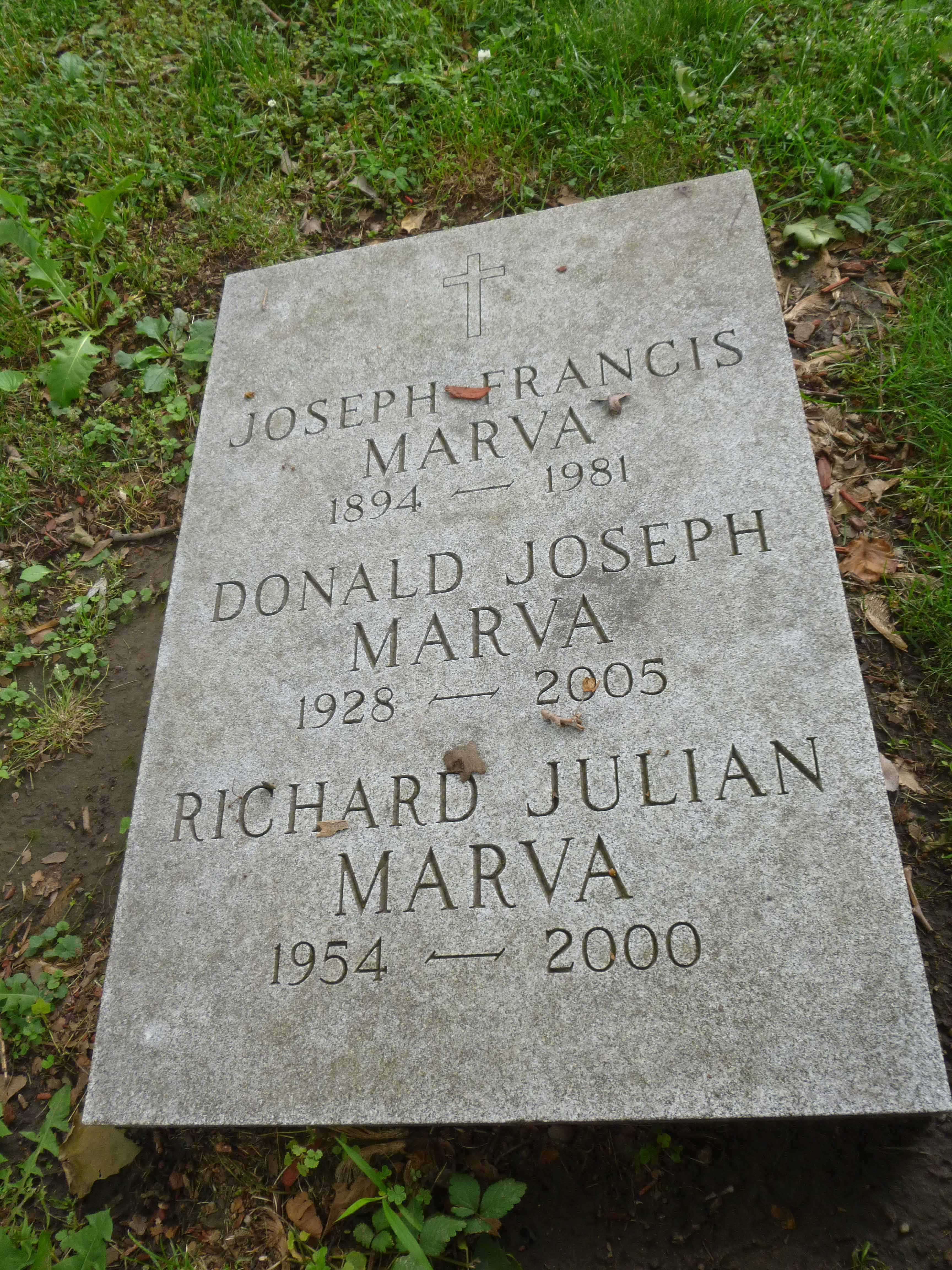 Read more about the article Joseph, Donald and Richard Marva