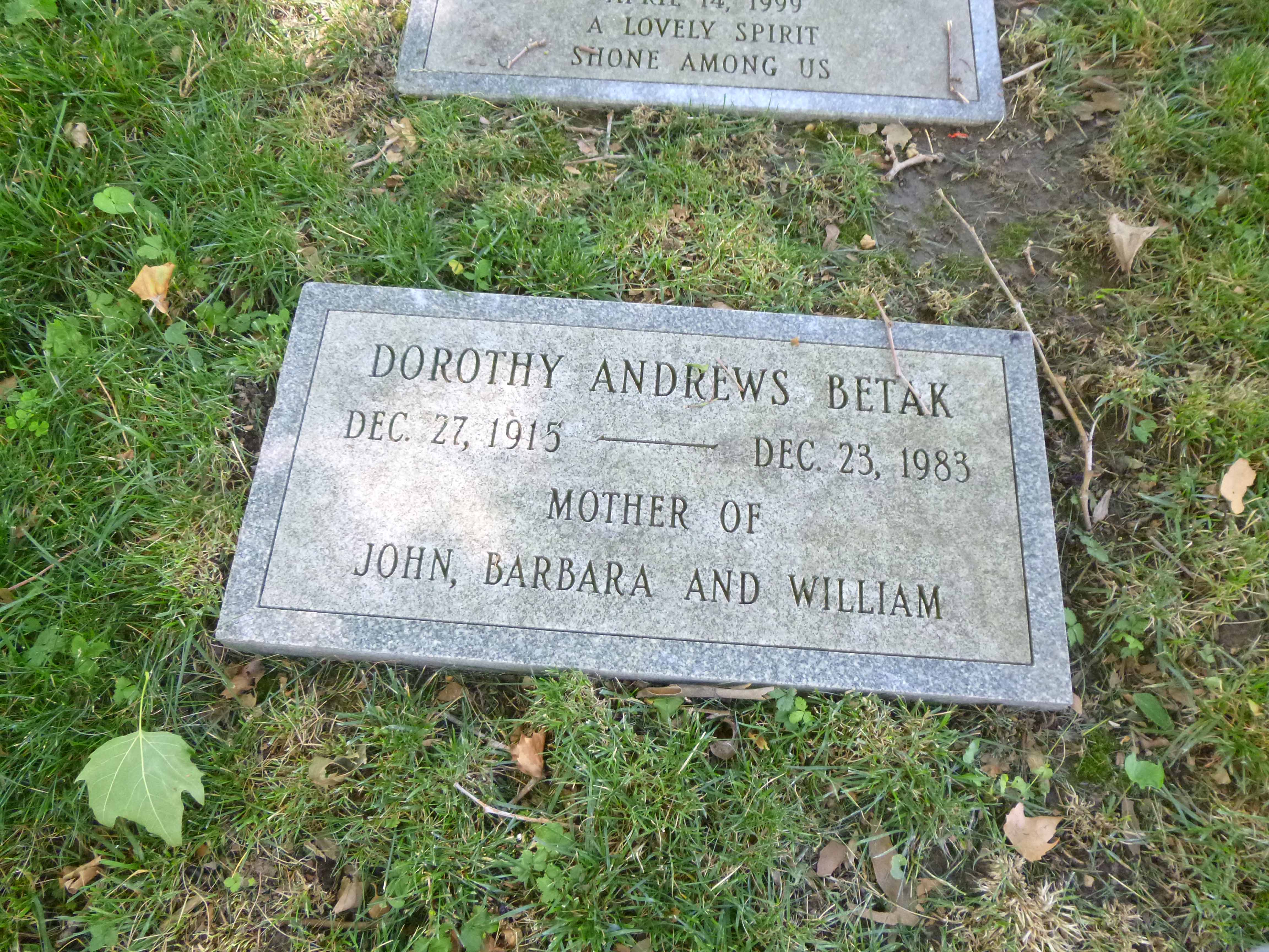 Read more about the article Dorothy Betak