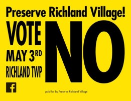 Vote No on May 3 to Preserve Richland Village