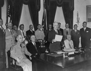 Truman Announces End of War