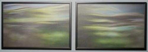 And There Was Morning, And There Was Evening, Barry Sherbeck, Photograph on canvas, 2010, 20 x 30, Genesis 1, $420 (pair)
