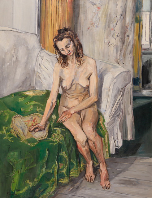 Francis Gruber, Femme assise au canapé vert