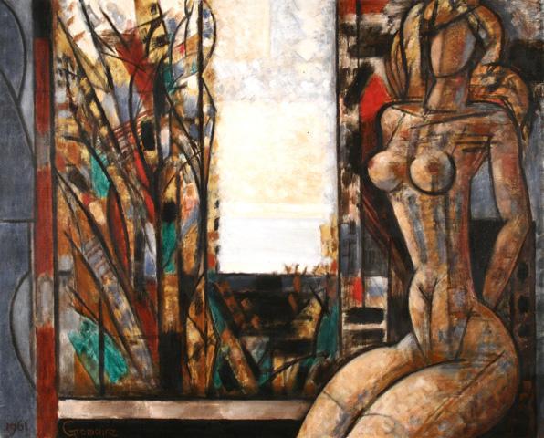 Painting by MarcelGromaire : Nu à l'Automne