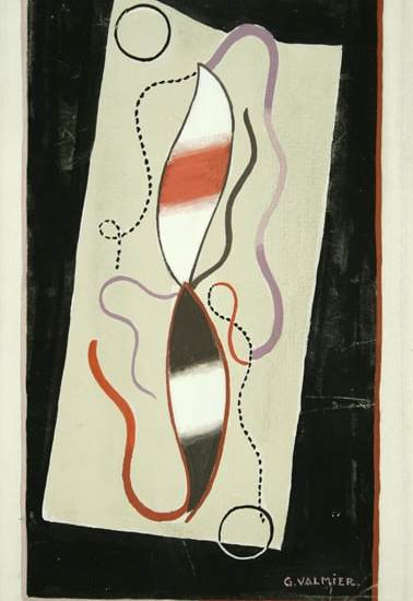 """Georges Valmier, """"Composition"""", 1933 gouache 25,8 x 16,1 cm"""