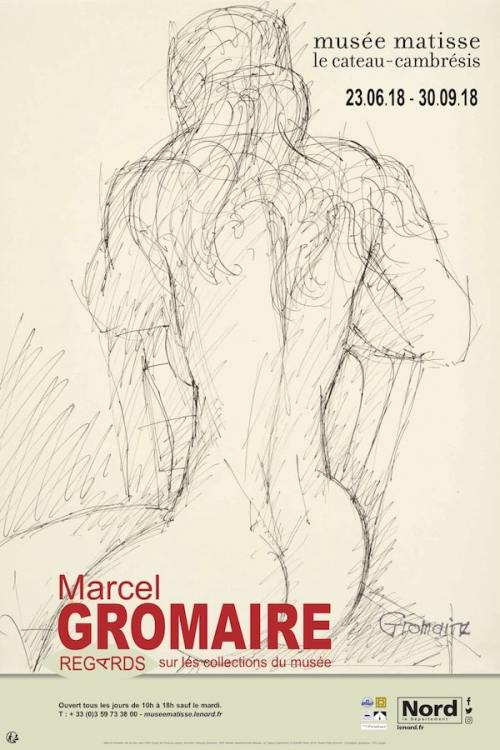 "Poster of the exhibition ""Marcel Gromaire - regards sur les collections du musée"""