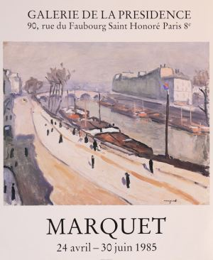 Poster of the exhibition Marquet, at Galerie de la Présidence in 1985