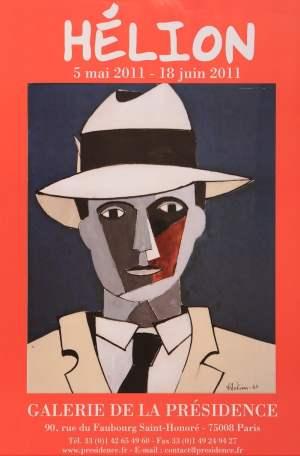 """Poster of the exhibition """"Hélion"""", in 2011 at Galerie de la Présidence"""