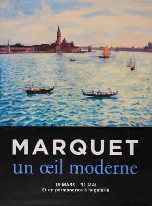"""Affiche de l'exposition """"Marquet un œil moderne"""", en 2016 à la Galerie de la Présidence"""