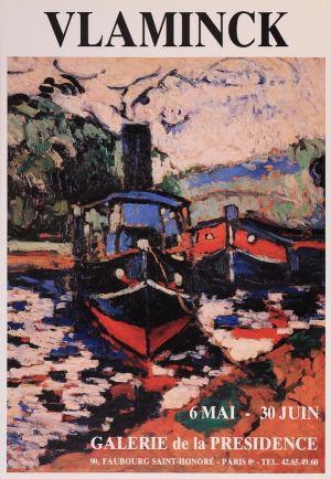 Affiche de l'exposition Vlaminck 6 mai - 30 juin 1987