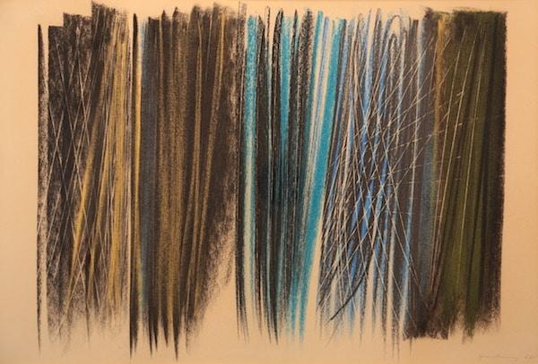 Hans Hartung Composition 1960 Pastel 50 x 72 cm