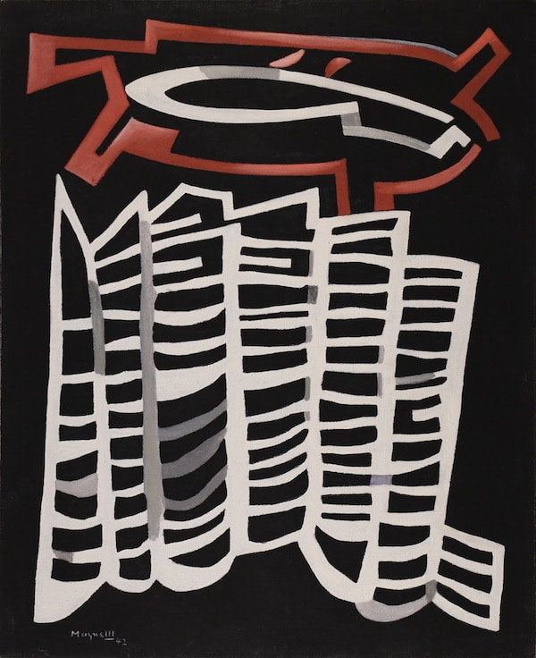 Alberto Magnelli Dialogue naturel 1942 Huile sur toile 101 x 82,2 cm