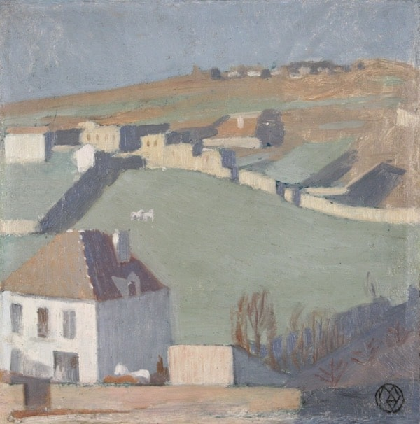 Maurice Denis Pré aux chevaux Circa 1894-95 Oil on cardboard 25,3 x 25 cm SOLD