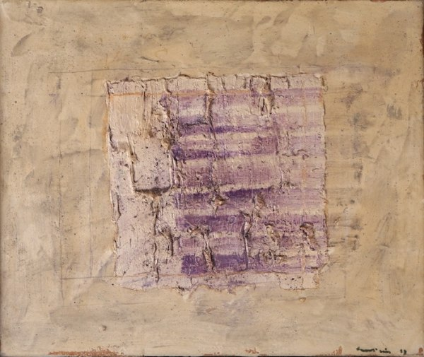 Jean Fautrier Variation sur un rectangle 1957 Oil on paper mounted on canvas, 38 x 46 cm