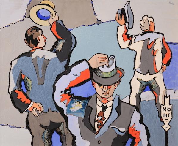 Jean Hélion Les salueurs 1945 Gouache sur papier, 58 x 71 cm
