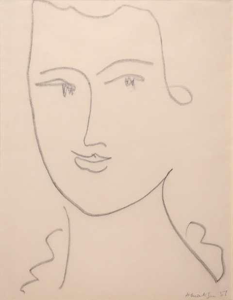 Henri Matisse Tête de femme 1951 Charcoal, 52 x 40 cm