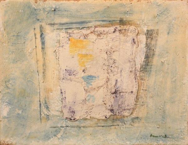 Jean Fautrier Composition 1958 Huile sur papier marouflé sur toile, 27 x 35 cm