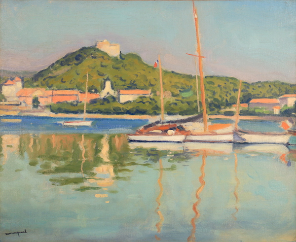 Albert Marquet Porquerolles, le fort Sainte-Agathe Circa 1938-39 Oil on canvas, 50 x 61 cm