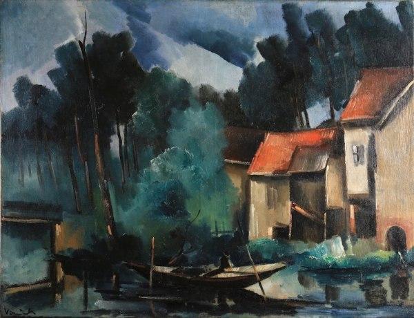 Maurice Vlaminck La pêche au chevesne Circa 1916 Oil on canvas, 89 x118 cm