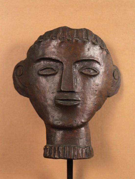 André DERAIN, Visage géometrique, bronze,