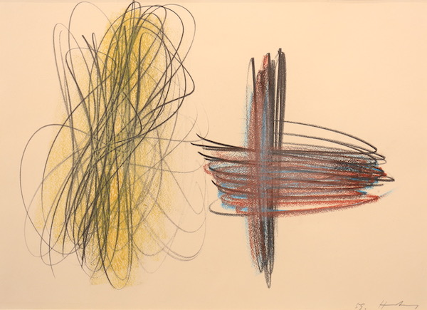 Hans HARTUNG, Composition, 1959, Pastel, 27 x 38 cm