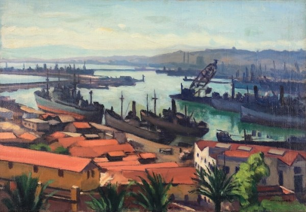 Albert Marquet, Les Quais du port de l'Agha, Circa 1942-43, Oil on canvas, 38 x 55 cm