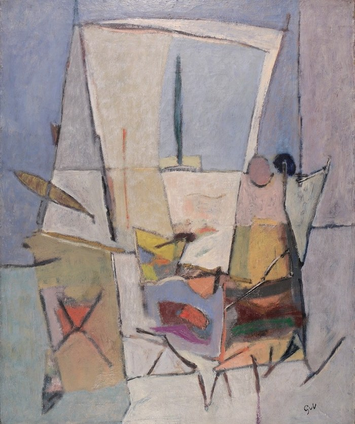 Work by Geer Van Velde available at Galerie de la Présidence, Composition, Circa 1946, Oil on canvas, 73 x 60 cm, Price upon request