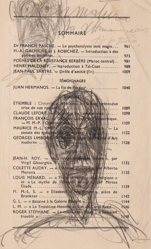 Alberto Giacometti, Tête et figure, Circa 1949, Drawing, 22,7 x 14,2 cm