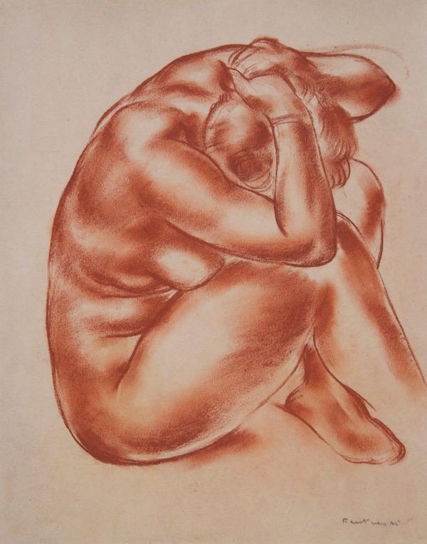 Jean Fautrier Femme nue assise 1925 28 x 22 cm