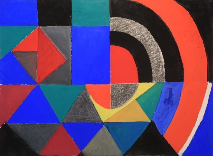 Sonia Delaunay, Rythme Couleur, 1965, Gouache, 58 x 78 cm
