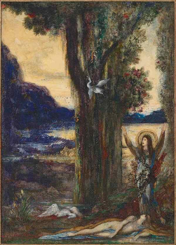 Work by Gustave Moreau: La douleur d'Orphée