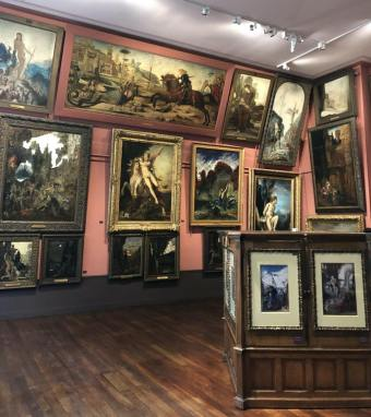 View of the Gustave Moreau museum