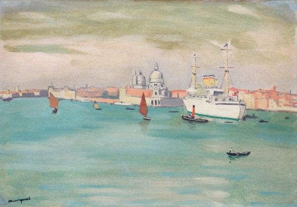 Albert MARQUET, Venise, 1936, Oil on cancas