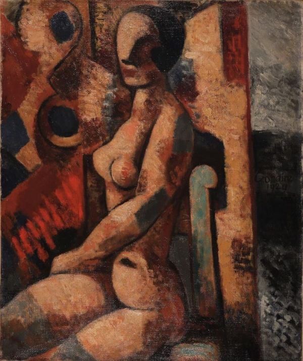 Marcel GROMAIRE, Nu assis, 1929, oil on canvas