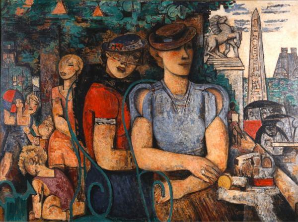 Marcel Gromaire, Portrait de Madame Girardin, Oil on canvas