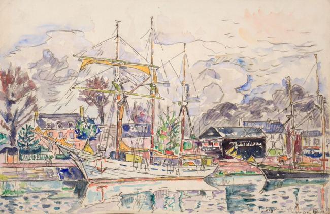 Paul Signac, Paimpol, 1930, Watercolor