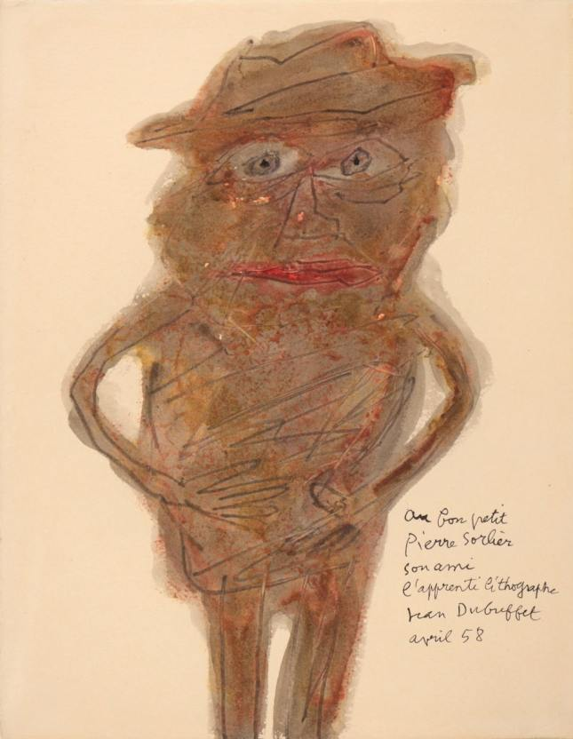Jean DUBUFFET, Personnage, 1958