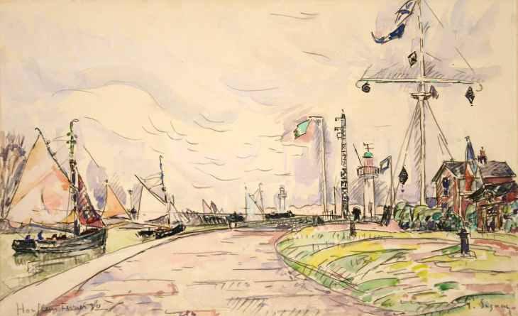 Paul Signac, Honfleur, la jetée, Février 1930