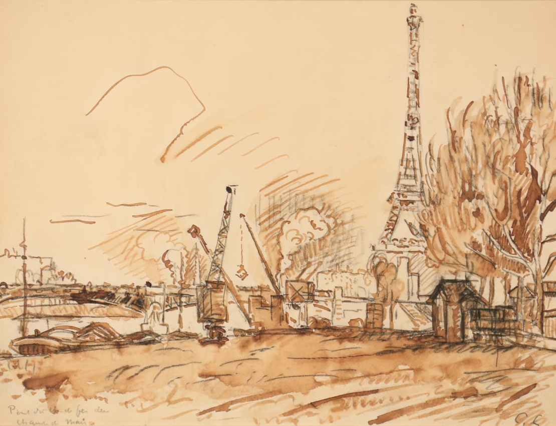 Paul Signac, Paris, la Seine au quai de Grenelle, Circa 1910