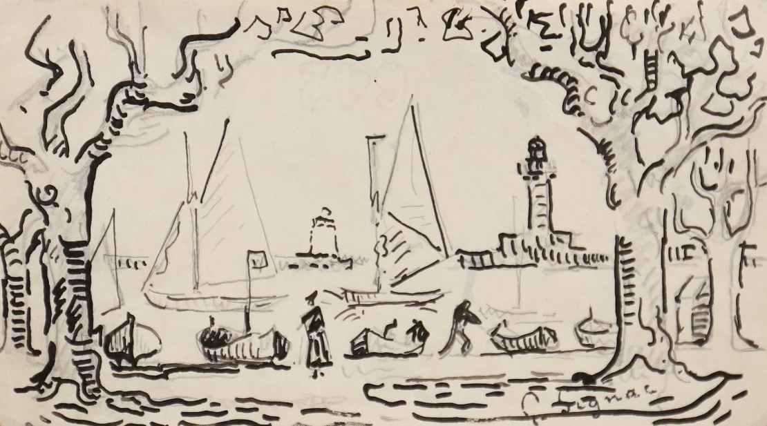 Paul Signac, Cannes, première pensée pour le tableau « Les Allées, Cannes »
