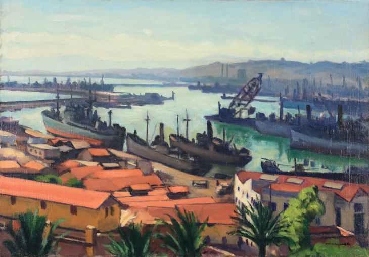 Albert Marquet Les Quais du port de l'Agha
